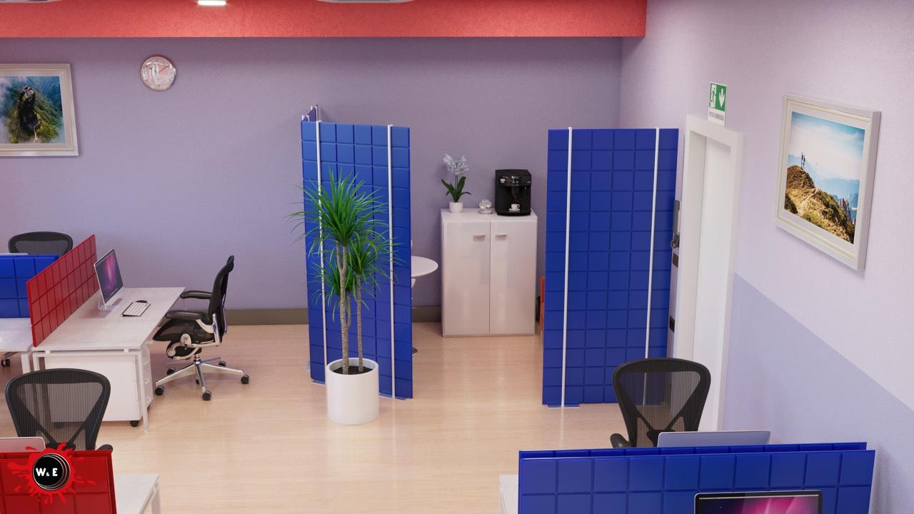 Rendering interni Ufficio