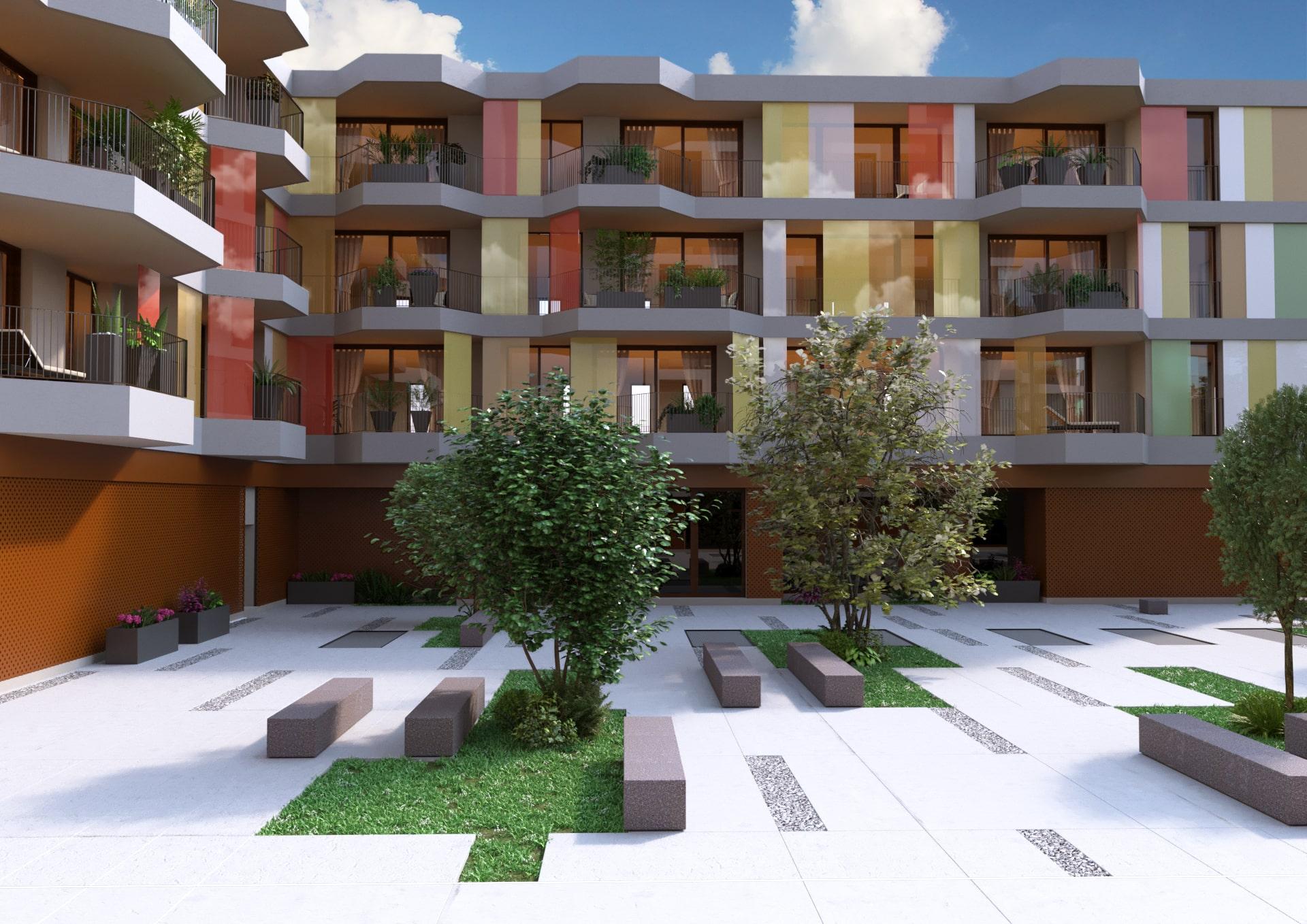 Rendering Complesso residenziale   Rendering Esterni