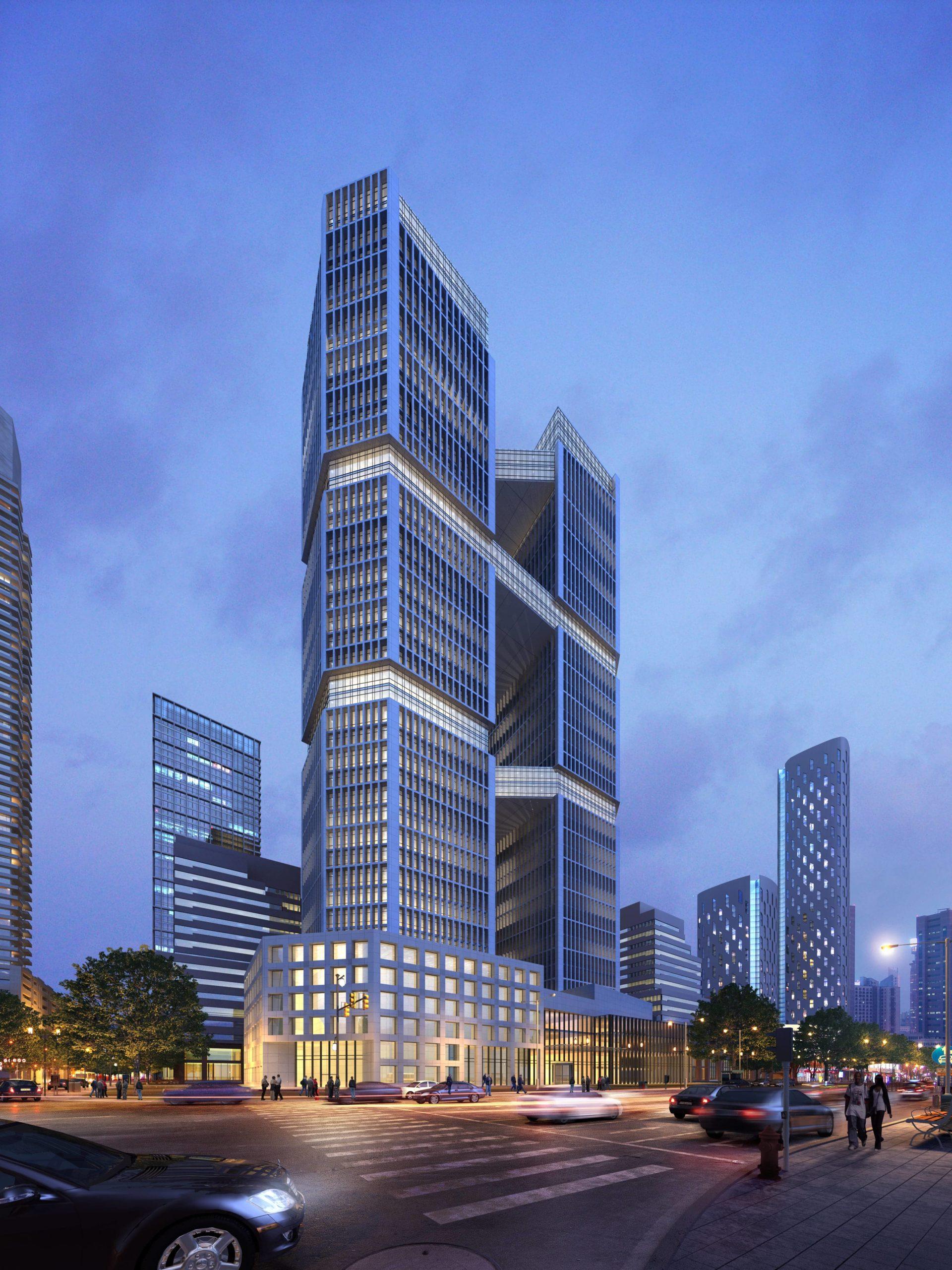 rendering grattacielo shanghai