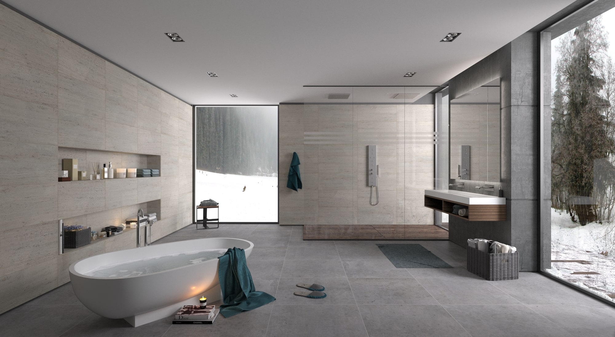 rendering luxury bagno