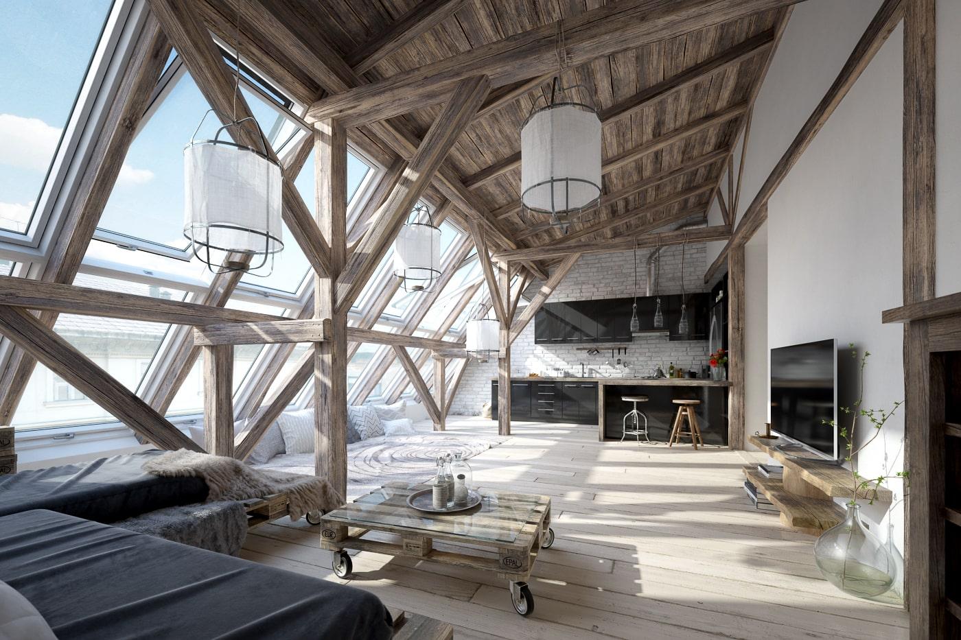 rendering attico