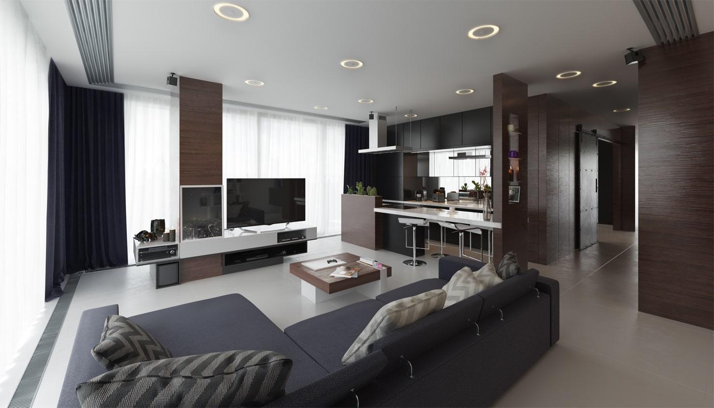 Rendering Appartamento stile contemporaneo