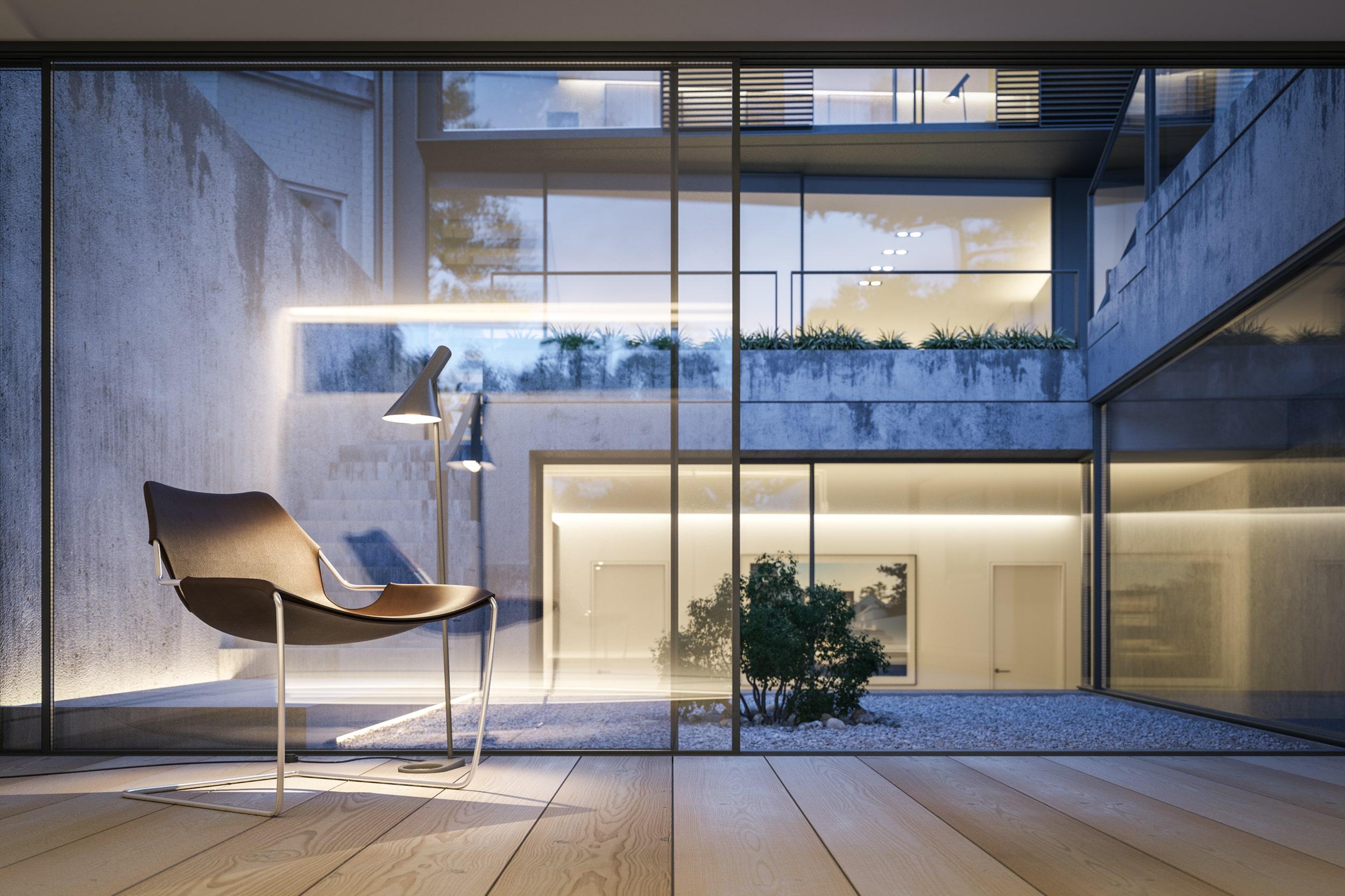 rendering villa bifamiliare