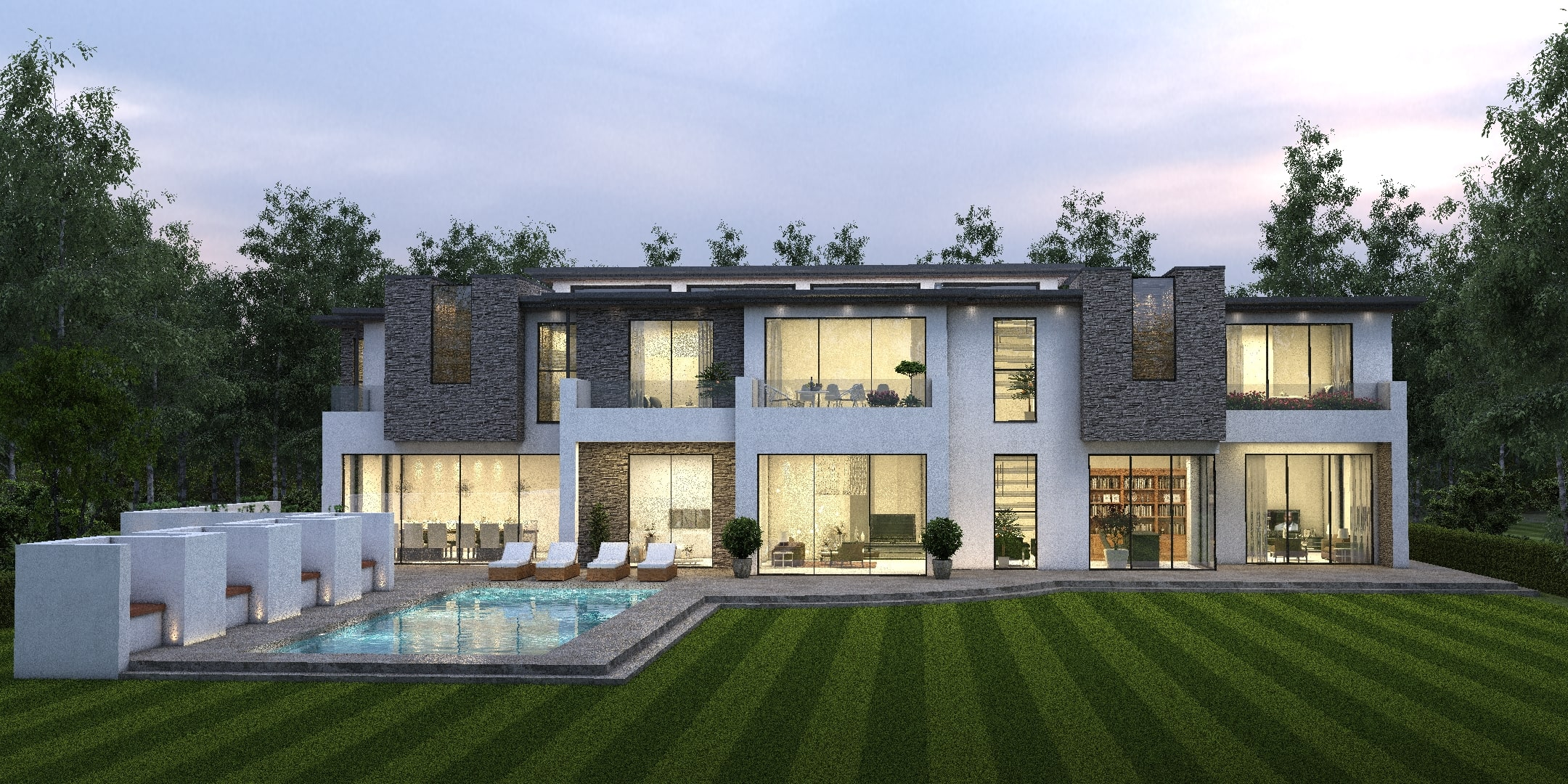 rendering villa luxury