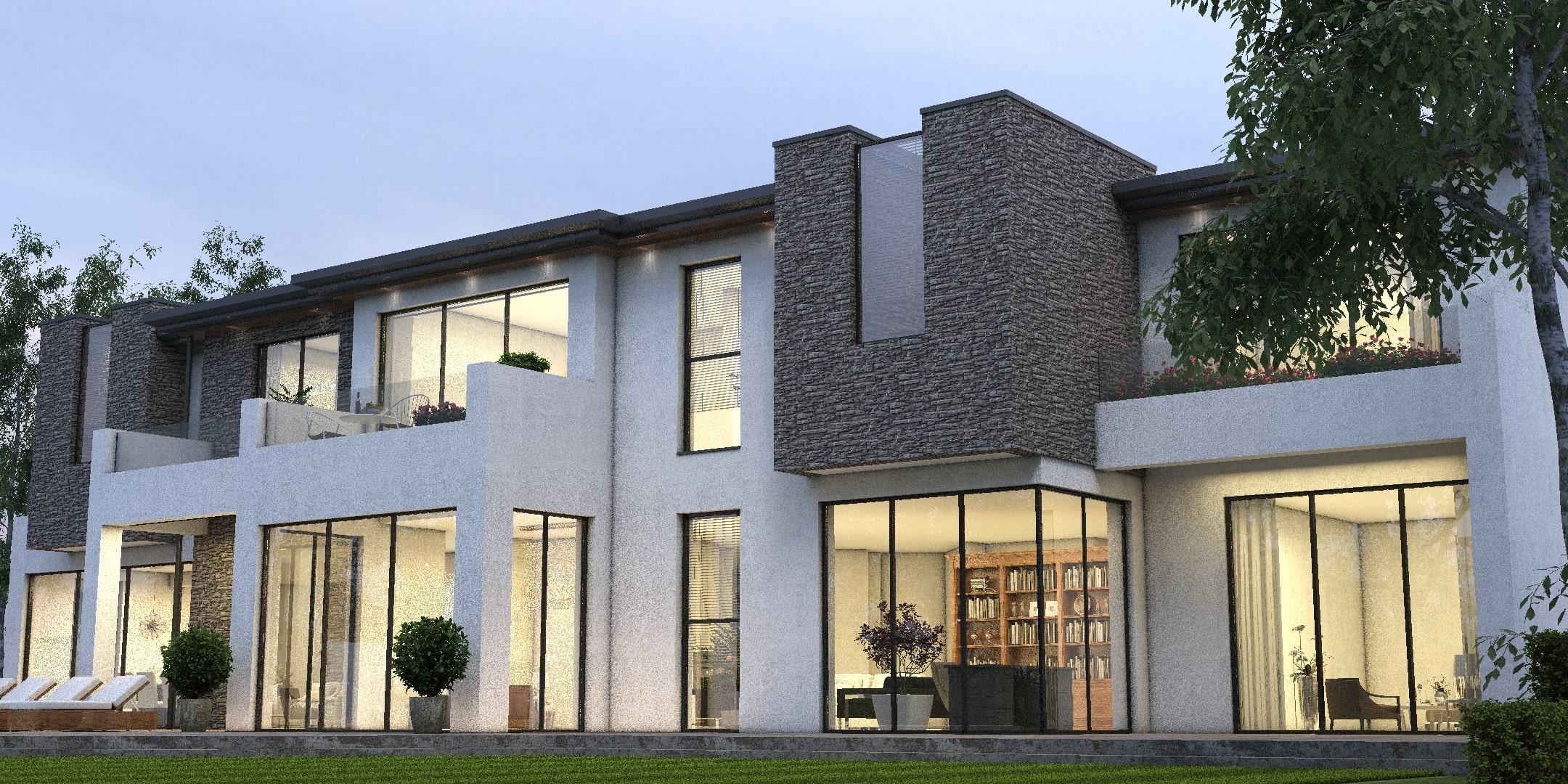 rendering villa luxury