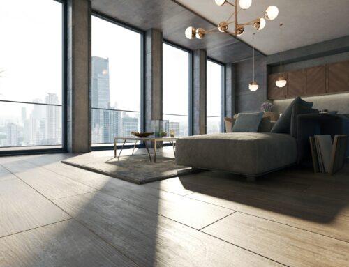 Rendering interni appartamento monolocale moderno per agenzia immobiliare